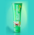 natural anti arthritis cream tube realistic vector image