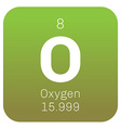 Oxygen chemical element vector image vector image