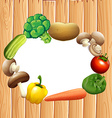 Paper design with fresh vegetables vector image