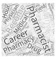 Pharmacist Career An Inside Look Word Cloud vector image vector image