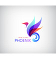 Phoenix colorful brand animal logo hotel fashion vector image vector image