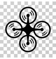 quadcopter screw rotation icon vector image vector image