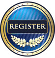 register now icon vector image vector image