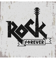 Rock music print vector image vector image