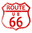 route 66 stamp vector image