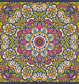 seamless flower pattern geometric print vector image vector image