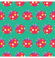Seamless Ladybug Pattern Insect Pattern vector image vector image