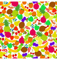 seamless pattern fruits nice bright color vector image vector image