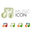 Set of abstract music note icon business logotype vector image vector image
