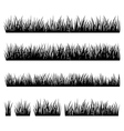 set silhouette grass isolated on white backg vector image vector image
