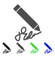 sign pencil icon vector image