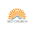 sky church concept vector image