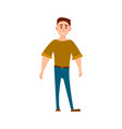 sportive man in t-shirt and jeans full length vector image vector image