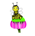 stock cute little bee vector image vector image