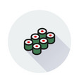 sushi icon on round background vector image
