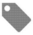 tag halftone icon vector image
