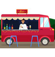 truck with bartender making alcohol drink