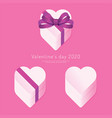 valentines day 2020 paper heart box concept vector image vector image