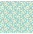 vintage turquoise floral seamless pattern vector image vector image