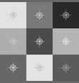 wind rose sign grayscale version of vector image vector image