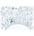 Winter card with house vector image vector image