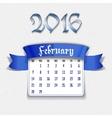 February 2016 calendar template vector image