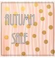 Autumn Sale Lettering vector image