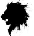 lion head tattoo-4 vector image