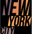 new york city t-shirt tee design typography print vector image