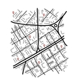 Sketch of city map for your design vector image