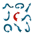 A collection of blue and red arrows vector image