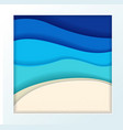 abstract blue turquoise maldivian ocean and beach vector image vector image
