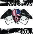 american skull vector image