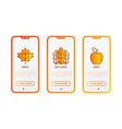 autumn thin line icons set maple oak leaves vector image