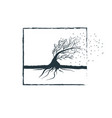 bendable tree symbolizing the wind vector image