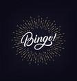 bingo hand written lettering vector image vector image