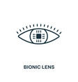 bionic lens icon premium style design from future vector image vector image
