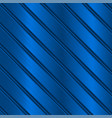 blue metal background with diagonal stripes vector image