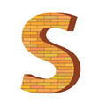 brick letter S vector image