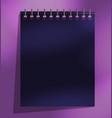 calendar template flat design vector image vector image