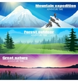 Camping Outdoor Nature Horizontal Banners Set vector image