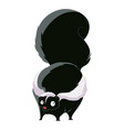 cartoon fat skunk vector image vector image