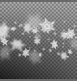 christmas snowflakes shallow dof eps 10 vector image