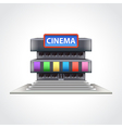 Cinema building isolated vector image vector image