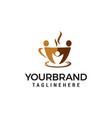 coffee community logo design concept template vector image