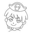 coloring page outline portrait cartoon cute vector image vector image