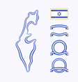 Colors of Israel vector image vector image