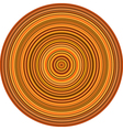 concentric pipes circular shape in multiple orange vector image vector image