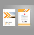 cover annual report brochure flyer template in a4 vector image vector image