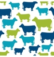 Cow silhouette seamless pattern background for vector image